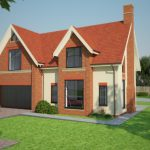 Front perspective of lytham home