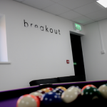 Aldrock's breakout zone and pool table