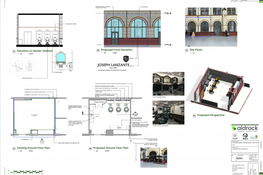 Barbershop in Victoria Station blueprints