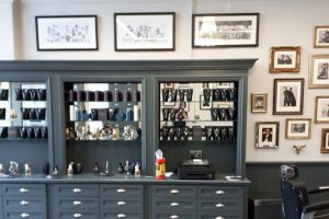 Completed barbershop interior