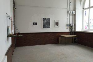 Existing room before barbershop refurbishment