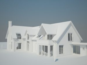 3D render made using Revit software