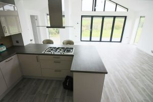 Kitchen conversion and rear view