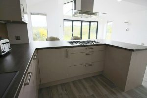 Kitchen conversion and rear interior view