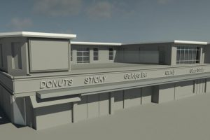 Blackpool hospitality park 3D front view